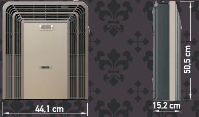Eskabe TB3TT Vent Gas Heater Size