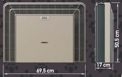 Eskabe TB5TT Vent Gas Heater Dimensions